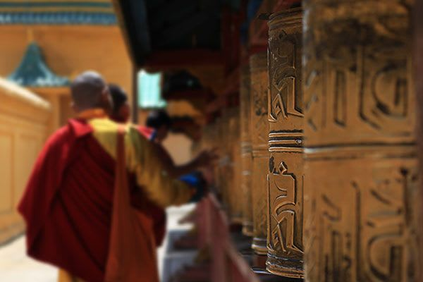 Yoga Retreat India - dharamsala prayer wheels