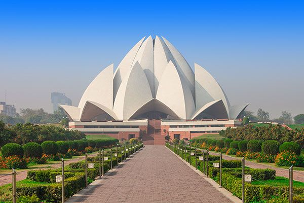 Yoga Retreat India – The famous Lotus Temple one of most recognized structures in the city, built entirely out of white marble